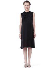 House of Napius Radiation Safe Comfortable Sleeveless Maternity Dress - Black