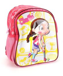 Chhota Bheem Chutki Print School Backpack Pink - 14 inches