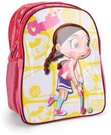 Chhota Bheem School Bag Dark Pink - 16 Inches