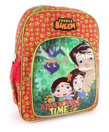 Chhota Bheem School Backpack Red - 16 inches
