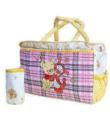 The Button Tree Bear Print Diaper Bag - Multicolor