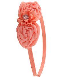 Pikaboo Hair Band Floral Applique - Peach