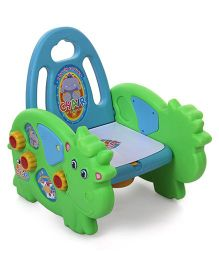 Musical Potty Chair Cow Design - Green Blue