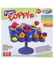 Sunny Funny Topple Game - Blue