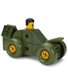 Fair Ind Battle Tank Interlocking Blocks - Olive Green