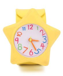 Analog Wrist Watch Star Shape Dial - Yellow