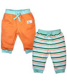 FS Mini Klub Pants Set of 2 Multi Print  - Green and Orange