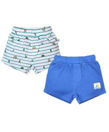 FS Mini Klub  PO2 SHORTS BLUE 3 - 6 Months KNIT