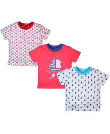 FS Mini Klub Half Sleeves T-Shirt Set of 3 - Multi Color
