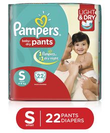Pampers Pant Style Diapers Light And Dry Small - 22 Pieces