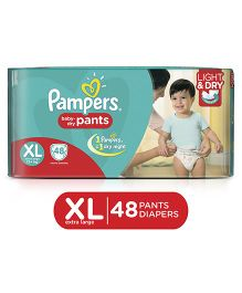 Pampers Pant Style Diapers Light And Dry Extra Large - 48 Pieces