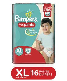Pampers Pant Style Diapers Light And Dry Extra Large - 16 Pieces