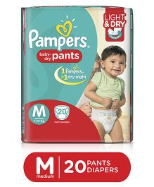 Pampers Pant Style Diapers Light And Dry Medium - 20 Pieces