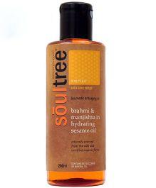 SoulTree Brahmi & Manjishta Anti Ageing Moisturizing Oil - 200 ml