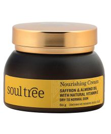 SoulTree Saffron And Almond Oil Nourishing Cream