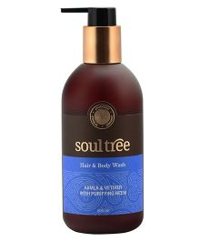 SoulTree Aamla & Vetiver Hair & Body Wash