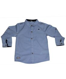 Piperz Full Sleeves Shirt - Light Blue