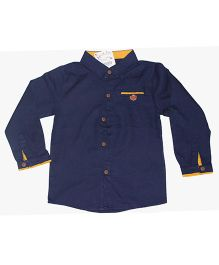 Piperz Full Sleeves Formal Shirt - Navy Blue