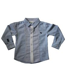 Piperz Full Sleeves Shirt With Stripes - Blue