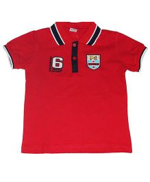 Piperz Half Sleeves Polo T-Shirt - Red
