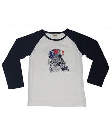 Piperz Full Sleeves Printed T-Shirt - Blue And White