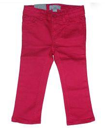 Piperz Full Length Denim Pants - Pink