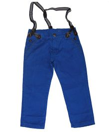 Piperz Full Length Pants With Removable Suspenders - Blue