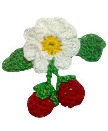 My World Of Crochet By Neelam Crochet Flower & Fruit Tic Tac - Red