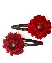 My World Of Crochet By Neelam Crochet Flower Tic Tac - Red