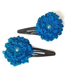 My World Of Crochet By Neelam Crochet Flower Tic Tac - Blue