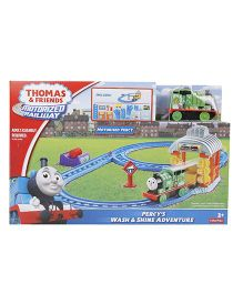 Thomas And Friends Motorized Railway Percy's Wash And Shine Adventure