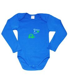 Kiwi Short Sleeves Onesies Elephant Love Print - Blue