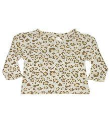 Kiwi Full Sleeves Top Leopard Print - Cream