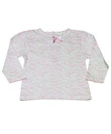 Kiwi Full Sleeves Abstract Print Top - Pink