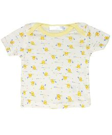 Kiwi Half Sleeves T-Shirt Printed - Lemon Yellow