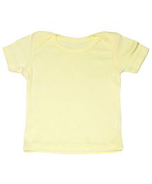 Kiwi Half Sleeves Plain T-Shirt - Yellow