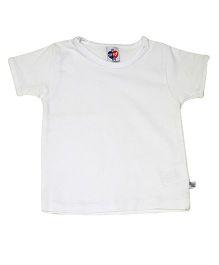 Kiwi Solid Half Sleeves T-Shirt - White