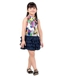 Tiny Baby Top & Flared Skirt Set - Blue