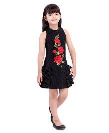 Tiny Baby Frilled Party Dress - Black
