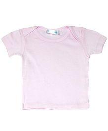 Kiwi Half Sleeves Plain T-Shirt - Pink