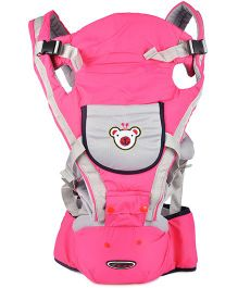 Kiwi 3 Way Baby Carrier Plus Hip Seat - Pink & Grey
