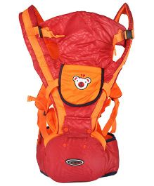 Kiwi 3 Way Baby Carrier Plus Hip Seat - Maroon & Orange