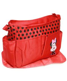 Kiwi Diaper Bag With Changing Mat Minnie Mouse - Red