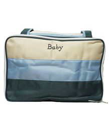 Kiwi Diaper Bag With Changing Mat - Blue & Cream