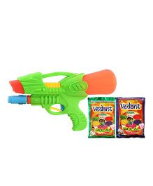 DealBindaas Holi Water Squirter 0928 With Gulaal Assorted Colour