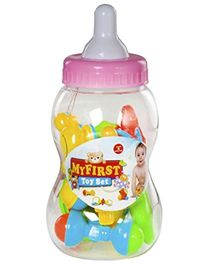 Magic Pitara Feeding Bottle Shaped Rattle Toy