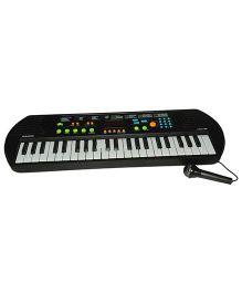 Magic Pitara Electronics Keyboard With Microphone - Black