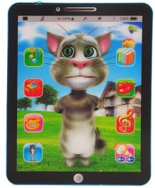 Magic Pitara Talking Tom Cum 3D Learning Tab - Black