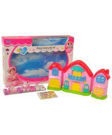 Magic Pitara Doll House With Furniture Set - Pink