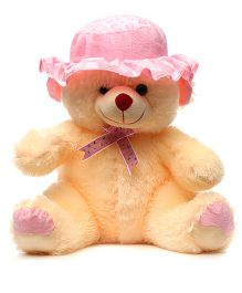 Acctu Toys Teddy Bear With Cap Peach - 50 cm